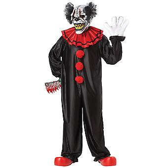 Last Laugh Clown Halloween Ani Motion Mask Men Costume One Size