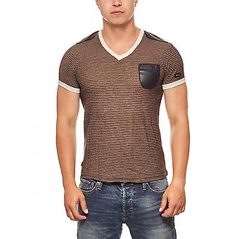 T-Shirt look cuir de mens Brown RUSTY NEAL