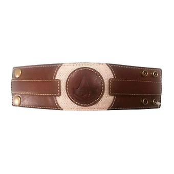 Assassins Creed opprinnelse preget Crest armbånd én størrelse Brown/Tan