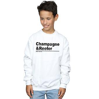 Muddy Waters Boys Champagne e Reefer Slogan Sweatshirt