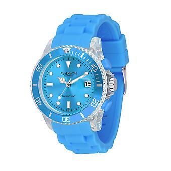 Candy time by Madison N.Y.. watch unisex U4399-06-1 light blue