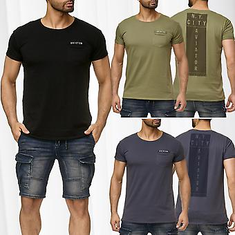 Men's T-Shirt Sublevel Short Sleeve Boxy Fit Front Pocket Aviator Tank
