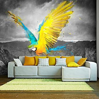 Wellindal Wall mural exotic parrot (Decoration , Vinyls)