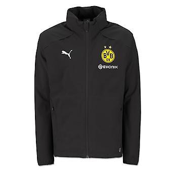 2018-2019 Borussia Dortmund Puma regen jas (zwart) - Kids