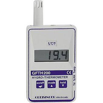 Detector de punto de rocío/molde RH GREISINGER GFTH 200 higrómetro 0% RH 100% calibrado con: las normas del fabricante (no cer