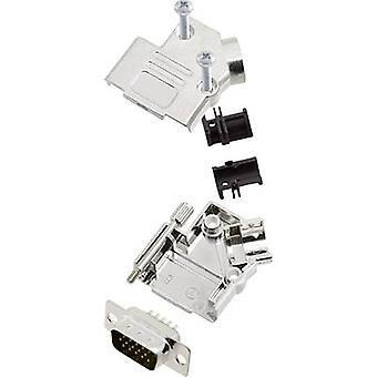 bande de broches SUB-D D45PK-M-09-HDP15-K encitech mis 45 ° nombre de broches: 15 soudure seau 1 jeu