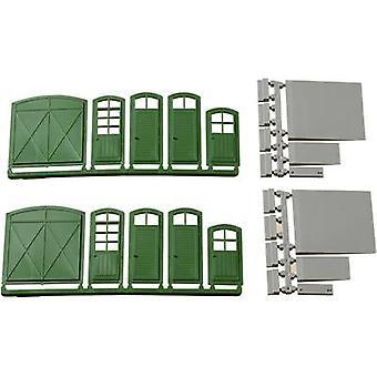 H0 門、ドア、階段、スロープ プラスチック組立キット