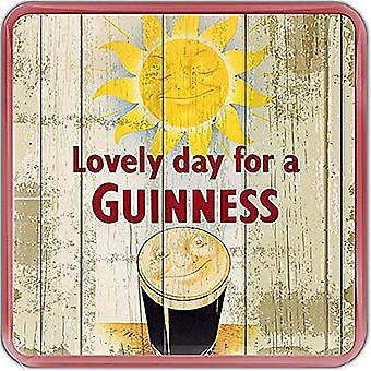 Lächelnd Pint Guinness / Sonne Epoxid-Kühlschrank-Magnet 75 X 75 Mm