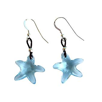 Gemshine Earrings Starfish Red Gilded MADE WITH SWAROVSKI ELEMENTS®