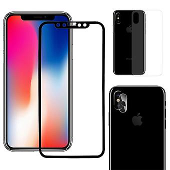 Apple iPhone X 3D armoured glass film camera lens glass tank protection glass back