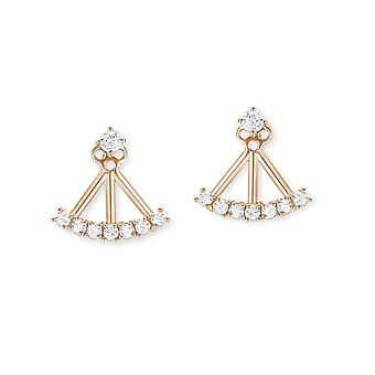 s.Oliver jewel ladies earrings of Rosé gold cubic zirconia ear jackets 2012517