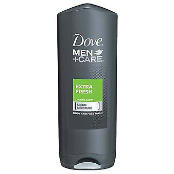 Dove men+care body and face wash, extra fresh, 13.5 oz