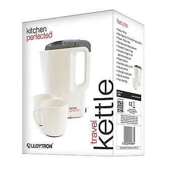 Lloytron E886 Travel Electric Kettle with Cups