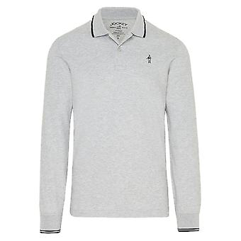 Jockey Long Sleeve Polo Shirt - Grey