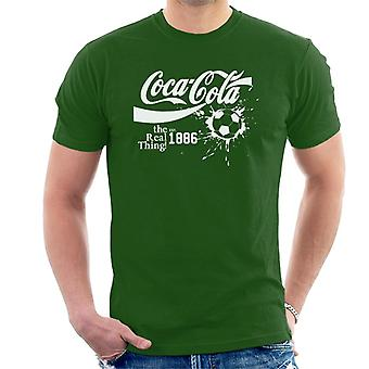 Coca Cola Ball Real Thing White Text Men's T-Shirt
