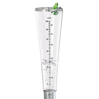 Blomus rain gauge CAMPO, stainless steel matt, acrylic container with scale