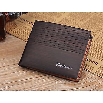 GENUINE PU Leather Wallet Feurdanni Dark Brown Credit Card Money Purse SIM ID