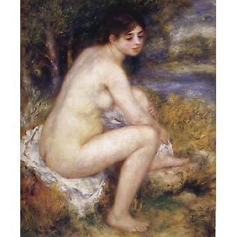 Female Nude in a landscape, Pierre Renoir, 65x55cm
