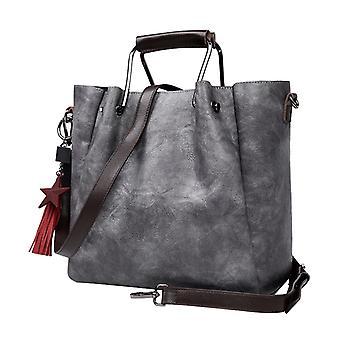 Handbag in grey LAMM2019, 33x26x15 cm