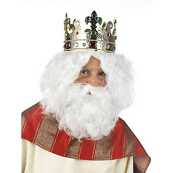 King wig barbarians Nicholas men's wig with beard