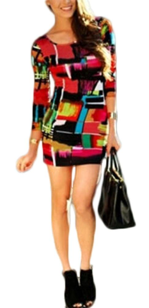 Waooh - Short dress Bret Abstract Print