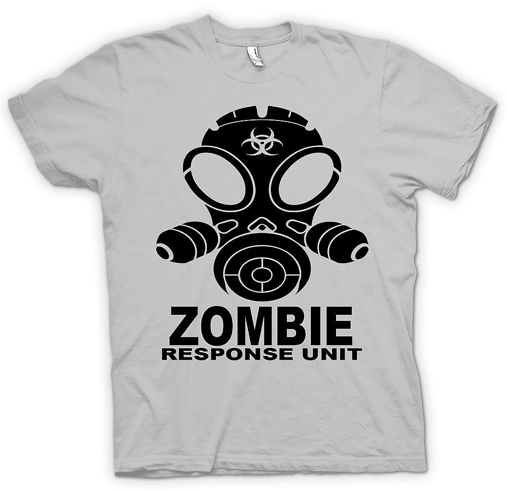 Mens T-shirt - Zombie Response Unit - Gasmask