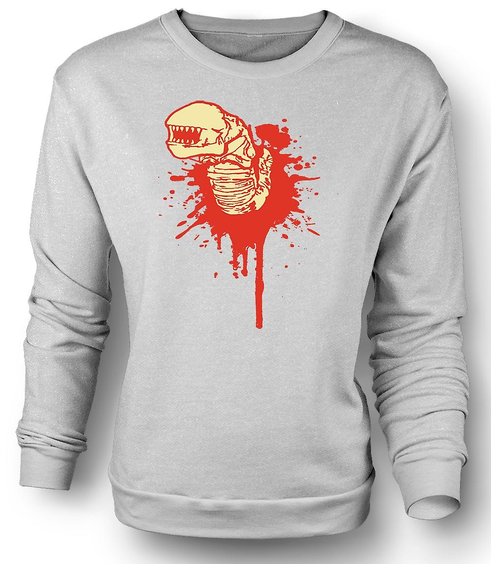 Mens Sweatshirt Alien Face Hugger - horreur - film