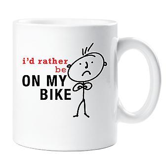 Herre jeg vil hellere være på min cykel krus