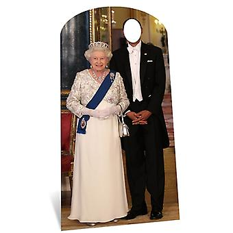 Dronning Elizabeth II Lifesize papp Stand-in Cutout