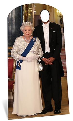 Koningin Elizabeth II Lifesize karton Stand-in knipsel