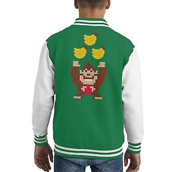 Donkey Kong Tribananas Kid's Varsity Jacket