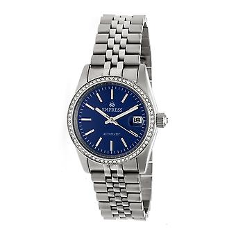 Kaiserin Constance Automatik Armband sehen w/Datum-Silber/Blau