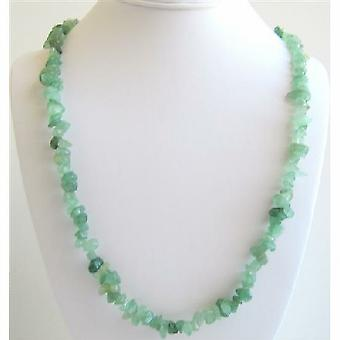 Jade Stone Nugget Long Necklace Stunning Necklace For All Ages