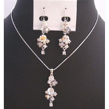 Cheap Affordable Wedding Jewelry w/ Simulated Diamond Jewelry Set