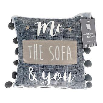 Country Club Sentiments Mini Cushion, Me Sofa You