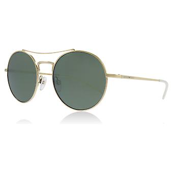 Emporio Armani EA2061 30136R Pale Gold EA2061 Round Sunglasses Lens Category 3 Lens Mirrored Size 52mm