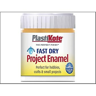 Plasti-kote Fast Dry Enamel Paint B11 Bottle Sunshine Yellow 59ml