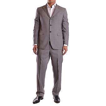 Burberry Grey Wool Suit