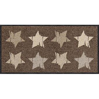 Salon lion mini doormat Wood stars nougat star washable