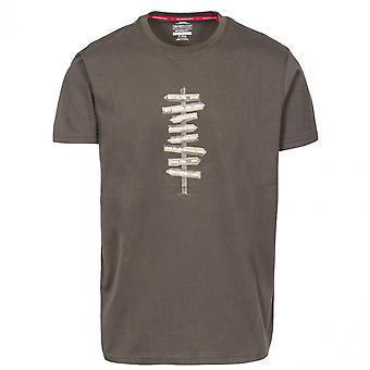 Overtreding Mens Mapping grafische T Shirt met korte mouwen