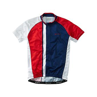 Madison Regal Blue-Flame Red 2016 Tour Short Sleeved Cycling Jersey