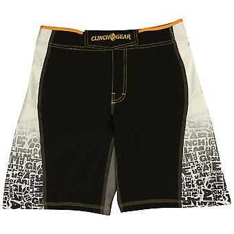 Clinch Gear Mens Signature MMA Wrestling Multiple Shorts - Black/Orange