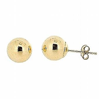 Les Olivia Collection 9ct jaune or 7mm Ball Stud boucles d'oreilles