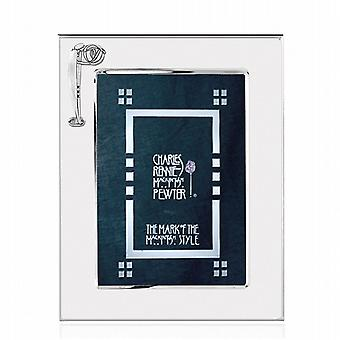Charles Rennie Mackintosh Silver Plated Photo Frame 6Inch; By 4