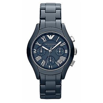 Emporio Armani Ar1470 reloj de cerámica azul para damas