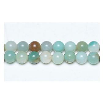 Strand 95 + Multicolour amazonitt 4mm ren runde perler GS4795-1
