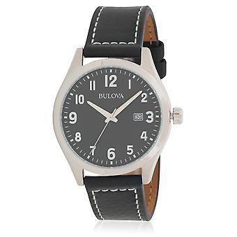 Bulova Leather Mens Watch
