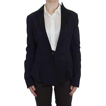 Exte Black Stretch Single Breasted Blazer Jacket -- SIG3645616