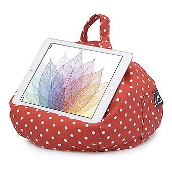 Ipad, tablet & ereader bean bag stand by ibeani - polka dot red & white