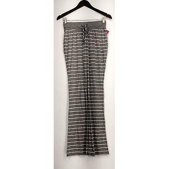 xhilaration Lounge Pants Knit Pull On Striped White/ Gray Womens